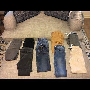 Boys 5-6 Assorted jeans/pants lot